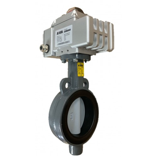 AVA A10 wafer type butterfly valve with A83 actuator