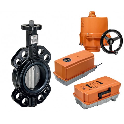 Belimo D6 series wafer type butterfly valve with actuator