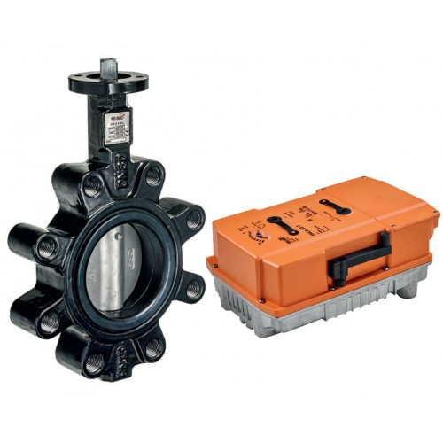 Belimo D6L series lug type butterfly valve with PRCA series actuator