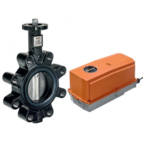 Belimo D6L series lug type butterfly valve with GRC/DRC series actuator