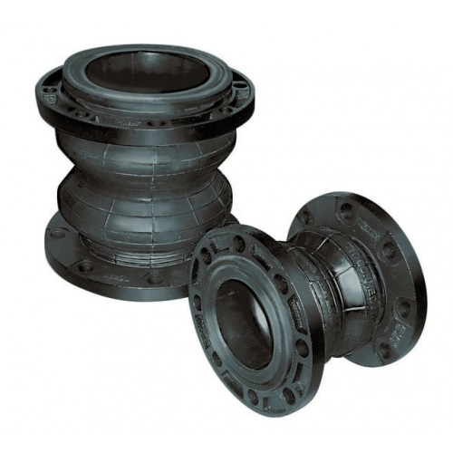 Tozen Twinflex Twin Sphere rubber flexible joint (Ductile Iron Flange)